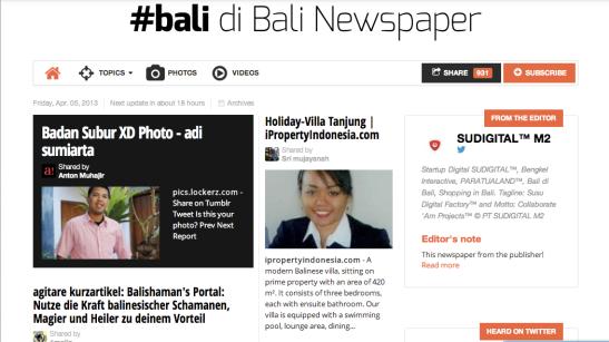 Di Bali Newspaper