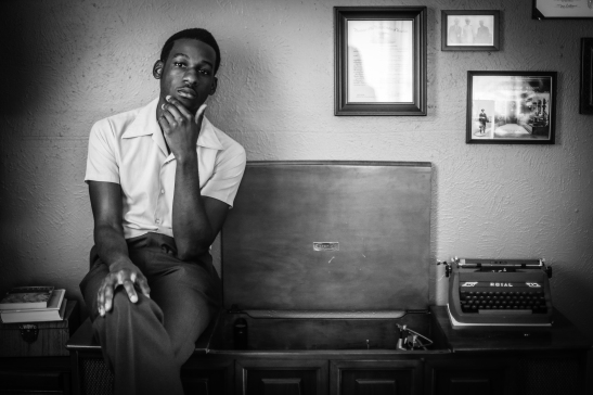Leon Bridges press photo 8 - record player - photo credit rambo